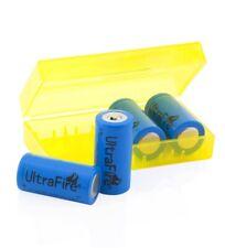 4x ultrafire 16340 cr123a batería 1000mah 3,6 V de iones de litio rcr123a + batteriebox