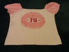 Girls White And  Pink  T Shirt. Size 152cm - 158 Cm