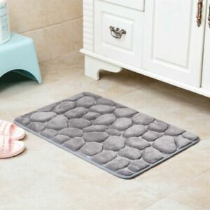 Non-Slip Flannel Bath Mat Bathroom Carpet Doormat Kitchen Bathroom Car Seat Soft