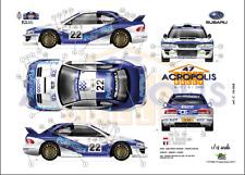 [FFSMC Productions] Decals 1/18 Subaru Impreza WRC '99 Richelmi Acropolis 2000