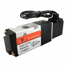 Pneumatic 3 Way Electric Solenoid Air Control Cylinder Valve 12V DC 1/8