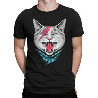 Ziggy Stardust Cat T-shirt, David Bowie Tee , Men's Women's All Sizes