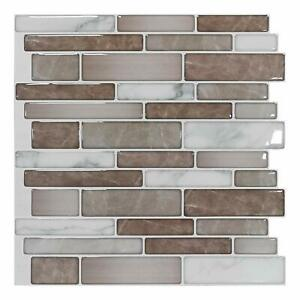 "Art3d 10 sheets Peel & Stick Self Adhesive Wall Backsplash Tiles, 12""x12"""