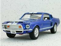 FORD Mustang SHELBY GT 500 - 1968 - bluemetallic - YATMING 1:18