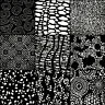 LUNN FABRICS BATIK BLACK & WHITE SPOTS 9 FAT QUARTERS BUNDLE FAT QUARTER