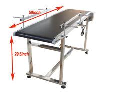 "New ListingConveyor System-15.7"" Pvc Conveyor Adjustable Speed 59"" L Conveyor Durable Sale"