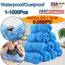 1/100/1000 Disposable PVC Plastic Over Shoes Shoe Boot Covers Carpet Protectors