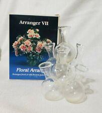Glass Multi Bud Cluster Vase 7 Flower Floral Arranger Vintage