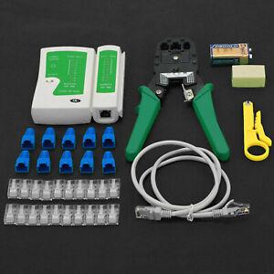 Netzwerk Ethernet LAN Kit RJ45 Kabel Kabeltester Crimper Crimpzange Tool