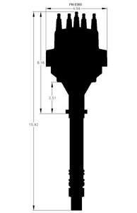 MSD 8360 Chevy V8 with Internal Module Distributor