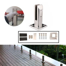 Railing Clamp Glass Clip Floor Standing Stairs Balcony Pool Spigots Balustrade