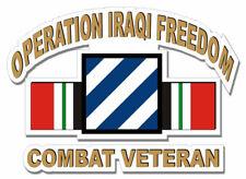 3rd Infantry Division Iraq Veteran Sticker Vinyl Decal 6-6