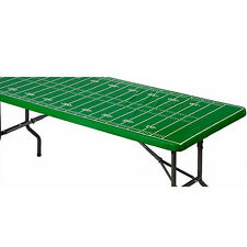 FOOTBALL FIELD PLASTIC TABLE COVER W/ ELASTIC EDGE ~ Sports Party Supplies Kick