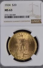 1924 NGC MS63 $20 St. Gaudens Double Eagle