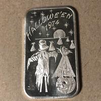 1974 Madison Mint Halloween 1 oz .999 Silver Bar