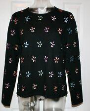 Talbot's 100% Cashmere Sweater, Black Multi, Petite Medium
