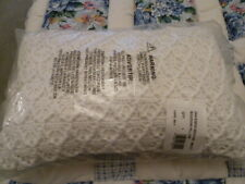 Croscill White Cape May Boudoir oblong Pillow 18 X 12 New in Original package