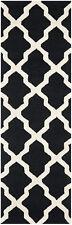 Safavieh Cambridge BLACK / IVORY Wool Runner Rug 2'-6 x 20' - CAM121E-220