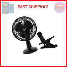 Clip Convertible Table-Top & Clip Fan Two Quiet Speeds, 6-Inch - Ideal for T …