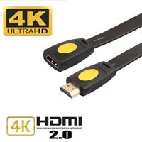 Premium Gold Plated Hdmi Extension Cable Extender Male to Female LCD HDTV 1080P
