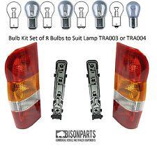FORD TRANSIT REAR LAMP LIGHTS LENS & HOLDERS & BULBS X2 RIGHT & LEFT MK6
