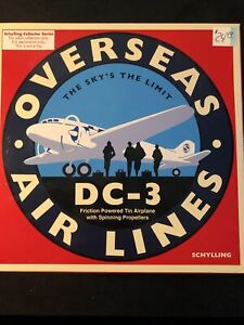 Collectible Schylling Overseas Airlines DC-3 Friction plane