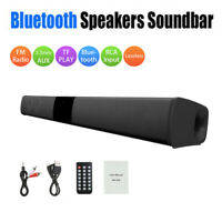 Stereo Bluetooth Speaker System Subwoofer Sound Bar Audio Surround For Home TV