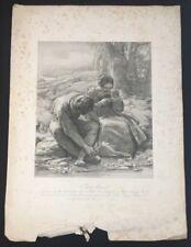 The Sonnet William MULREADY 1800 Litho John Linnel JR Printed M& N Hanhart PROOF