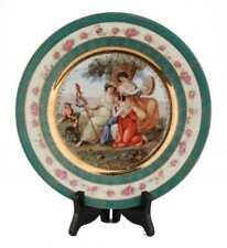 Antique ES Germany Prov Saxe Gay Interest Erotic Maidens HP Gold  Cabinet  Plate