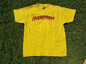 Hulk Hogan Hulkamania Yellow WWE Authentic T-Shirt YOUTH LARGE L S
