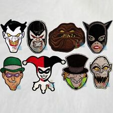Batman Set 8 Patches Animated Series Joker Riddler Bane Clayface Catwoman Harley