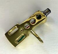GOLD PLATED HEADSHELL FITS MOST S SHAPED TONE ARMS WITH SME type 4 CONNECTOR