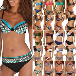 Women's Padded Bra Push Up Bikini Set Beachwear Swimwear Bathing Suit Swimsuit