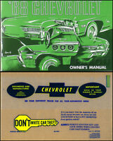 1968 Chevy Owners Manual with Envelope Impala and SS Caprice Bel Air Biscayne