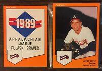 1989 ProCards PULASKI BRAVES Minor League Complete Team Set JAVY LOPEZ B2018711