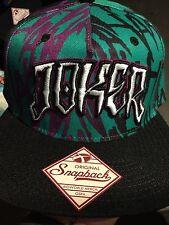 "DC COMICS"" THE GEOMETRIC JOKER"" 3-D Snapback Hat. Brand New. One Size Fits All"