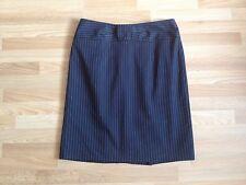 BNOWT Ladies Nanette Lepore Black Tailored Skirt White & Beige Pinstripes-Size 2