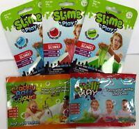 5 BUNDLE CRACKLE BATH + GELLI + SLIME PLAY ZIMPLY KIDS SENSORY MESSY TIME COLOUR