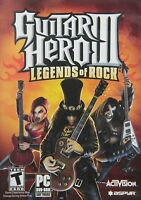 Guitar Hero 3 III: Legends of Rock Game Only for PC - Factory Sealed