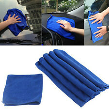 6PCS Microfiber Absorbent Soft Towel Glass Door Car Clean Wash Polish Towel Blue