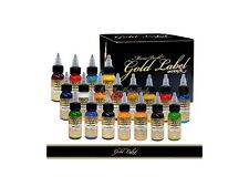 Intenze Tattoo Ink Mario Barth Gold Label 19 Color 1 Ounce Professional Set