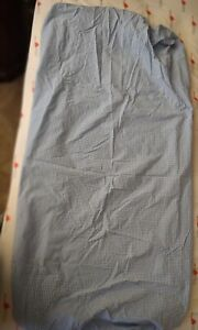 2 Pottery Barn Kids Blue & White, Red & White Gingham Check Fitted Crib Sheets
