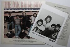 The Oak Ridge Boys MCA Late Vinyl Comp LP 1989 Glossy & Bio