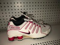 Nike Shox NZ Womens Athletic Running Training Shoes Size 10 White Pink Black