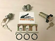 NEW 1982-1985 Chevrolet Camaro Ignition(BLACK) , Door & Trunk Lock Set- GM Keys