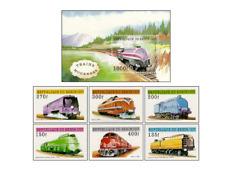 BEN9709 Modern railways block and 6 stamps MNH BENIN 1997