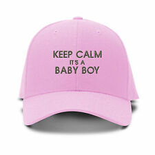 Keep Calm Its A Baby Boy Embroidery Embroidered Adjustable Hat Baseball Cap