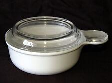 Corningware White Grab-It Bowl ~ P-150-B ~ 1 Pint + Glass Lid ~ Corning ~ Vgc