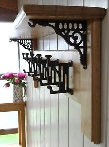 Vintage Style Solid Oak Coat Rack with Shelf Country Home- Mackintosh Collection