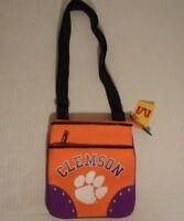 CLEMSON TIGERS NCAA Licensed Canvas Stadium Crossbody Purse Bag by Ashley M NEW